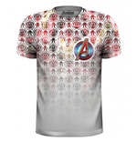 T-Shirt The Avengers Icons Pattern Pocket Logo