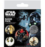 Star Wars Rogue One Ansteck-Buttons 5er-Pack Rebel