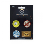 Overwatch Ansteck-Buttons 4er-Pack Roadhog