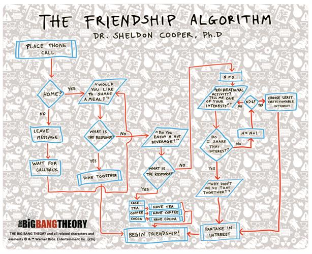 Mouse Pad Big Bang Theory FRIENDSHIP'S Algorithm