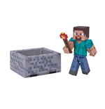 Minecraft Actionfigur Steve with Minecart 8 cm