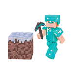 Minecraft Actionfigur Alex In Diamond Armor 8 cm