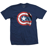 T-Shirt Marvel Superheroes Captain America American Shield