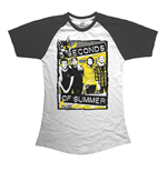 5 seconds of summer T-Shirt für Frauen - Design: Splatter
