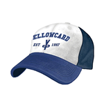 Kappe Yellowcard  - weiss - blau Flex Cap