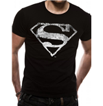 T-Shirt Superman - Logo Mono Distressed