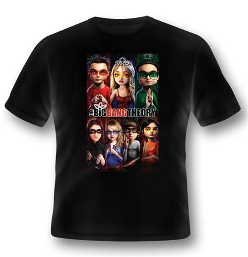 T-Shirt Big Bang Theory Superhero