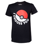 T-Shirt Pokémon - I Choose You in schwarz