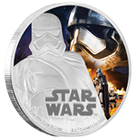Star Wars Episode VII 1 Oz Silbermünze Captain Phasma