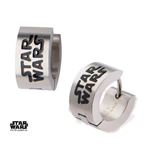 Star Wars Edelstahl-Ohrringe Enamel Filled Logo