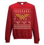 Sweatshirt Wonder Woman- Fair Isle Logo - Unisex in rot