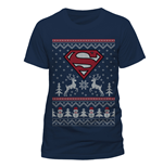 T-Shirt Superman - Reindeer & Snowman - Unisex in blau.