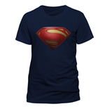 T-Shirt Superman - Textured Logo - Unisex in blau.
