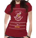 T-Shirt Harry Potter - Xmas Crest - unisex in rot