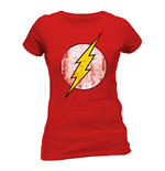 T-Shirt Flash Gordon - Logo - tailliertes T-Shirt fur Frauen in rot