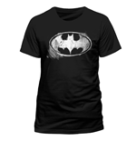 T-Shirt Batman - Logo Mono Distressed - Unisex
