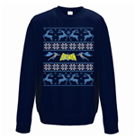 Sweatshirt Batman - Reindeer - Unisex in blau