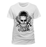 T-Shirt Suicide Squad - Joker Face - Unisex in weiss