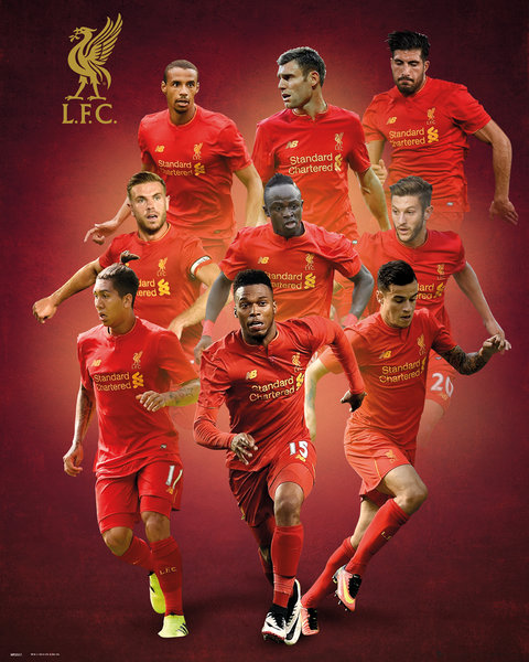 Poster Liverpool Players 16/17
