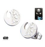 Star Wars Rogue One Edelstahl-Ohrringe Rebel Alliance/Galactic Empire Symbol
