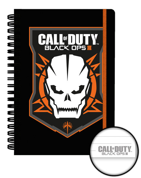 Notizbuch Call Of Duty Ops 3 Logo A4