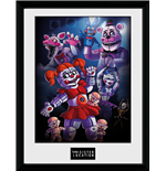 Bilderrahmen Five Nights at Freddy's  - Sister Location Group - Grosse: 30 x 40 cm.