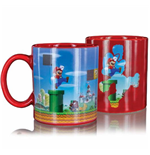 Super Mario Tasse mit Thermoeffekt Level