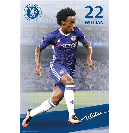 Poster Chelsea  - Willian 16/17 Maxi Poster (61x91,5 Cm)