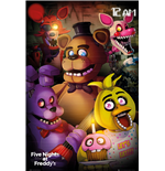 Poster Five Nights at Freddy's - Group. Grosse: 61 x 91,5 cm.