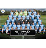 Poster Manchester City FC Poster - Team Photo 16/17. Grosse: 61 x 91,5 cm.