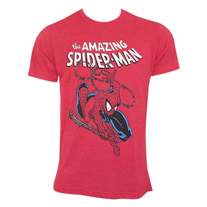 T-Shirt Spiderman Swinging