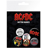 Brosche AC/DC Mix (Badge Pack)