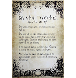 Poster Death Note - Rules - Grosse: 61 x 91,5 cm.