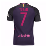 Trikot Barcelona Home 2016/17 - Kinder mit Sponsoren (Turan 7)