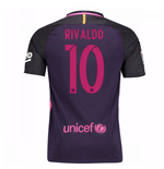 Trikot Barcelona Home 2016/17 - Kinder mit Sponsoren (Rivaldo 10)