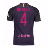 Trikot Barcelona Home 2016/17 - Kinder mit Sponsoren (Guardiola 4)