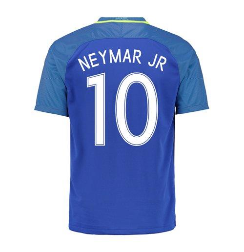 trikot brasilien fussball 2016 2017 away neymar jr 10. Black Bedroom Furniture Sets. Home Design Ideas