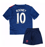 Mini Set Manchester United FC 2016-2017 Away Baby (Rooney 10)