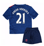Mini Set Manchester United FC 2016-2017 Away Baby (Ander Herrera 21)