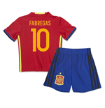 Mini Set Spanien Home 2016/17 - kinder (Fabregas 10)