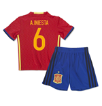 Mini Set Spanien Home 2016/17 - Kinder 9A.Iniesta 6)