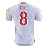 Trikot Spanien Fussball Away 2016/17 (koke 8) - Kinder