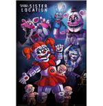 Poster Five Nights at Freddy's - Sister Location Group (Poster Maxi 61x91,5 Cm)