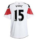 Trikot Manchester United FC 2010-2011 Away (Vidic 15) Kinder