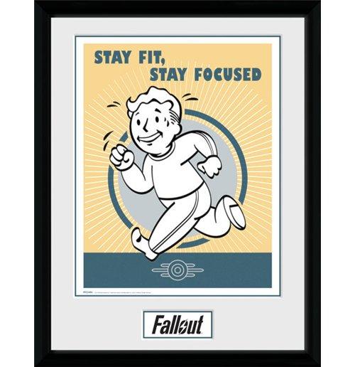 kunstdruck fallout mit rahmen stay fit f r nur chf 24 33. Black Bedroom Furniture Sets. Home Design Ideas
