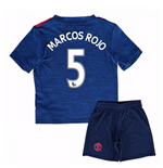 Mini Set Manchester United FC 2016-2017 Away (Marcos Rojo 5)