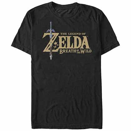 T-Shirt The Legend of Zelda Breath Logo in schwarz