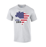 T-Shirt USA (Grau)