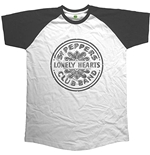 T-Shirt Beatles Mens Raglan Tee: Sgt Pepper Drum