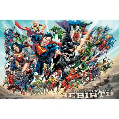 Poster Superhelden DC Comics Rebirth